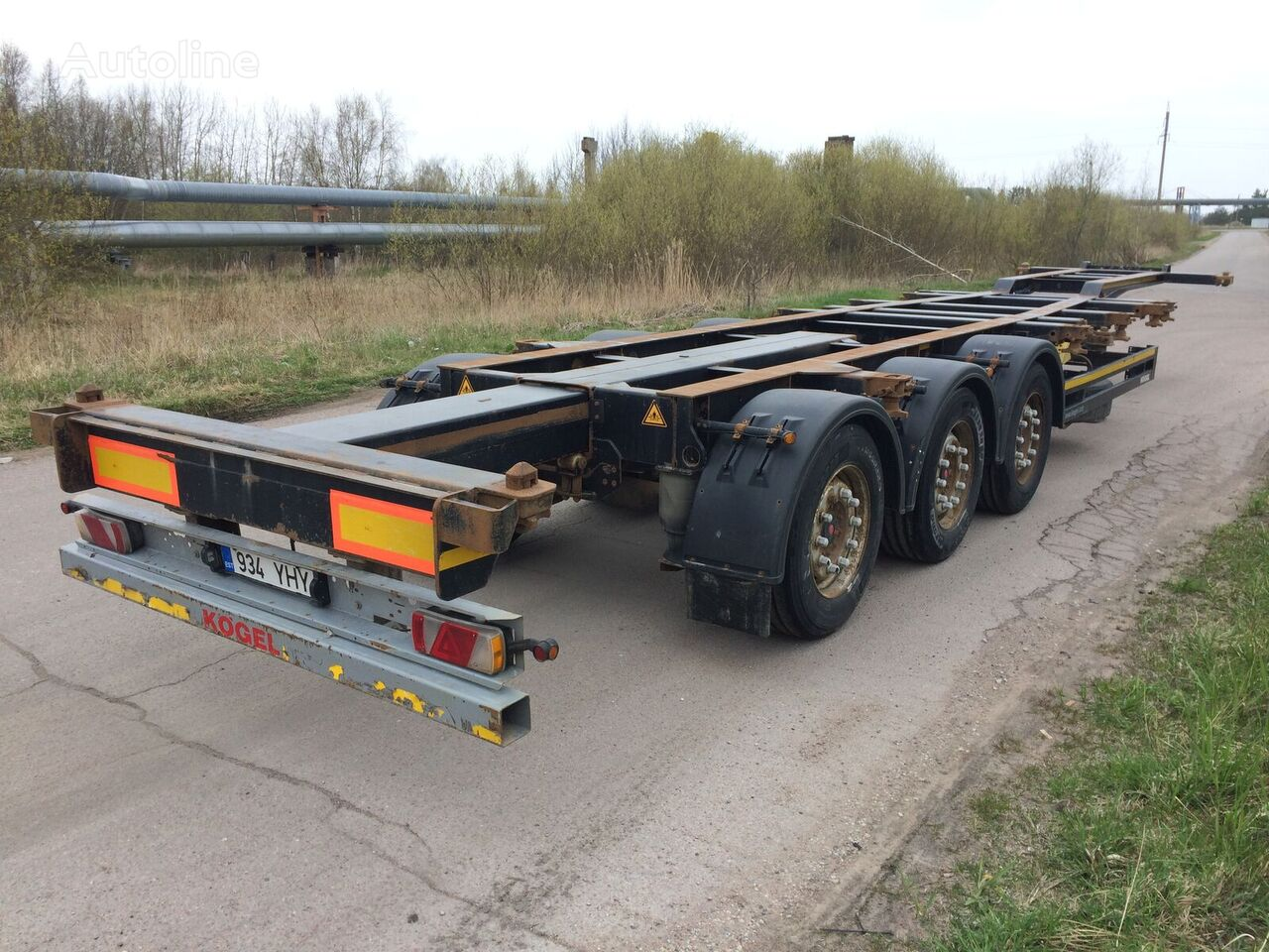 KÖGEL SW24 container chassis semi-trailer
