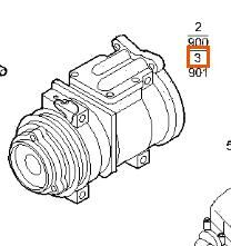 Compresor Aire Acond Iveco Stralis AS 440S48 (504385146) AC compressor for IVECO Stralis AS 440S48 truck