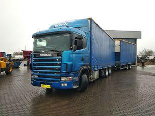 SCANIA 124 360 zestaw curtainsider truck + curtain side trailer