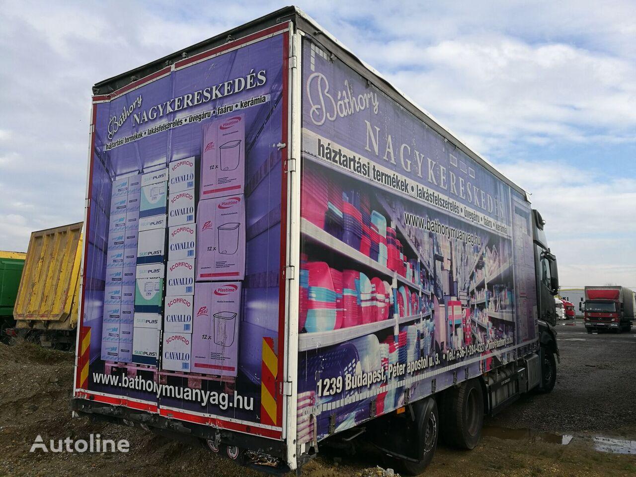 SCHWARZMÜLLER LBA ROLÓPONYVÁS FELÉPÍTMÉNY curtainsider truck