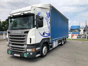 SCANIA R420 LB6x2 flatbed tilt truck